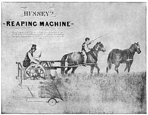 Obed Hussey - Poster for Hussey's Reaping Machine