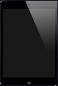 iPad med dens åbningsskærmbillede