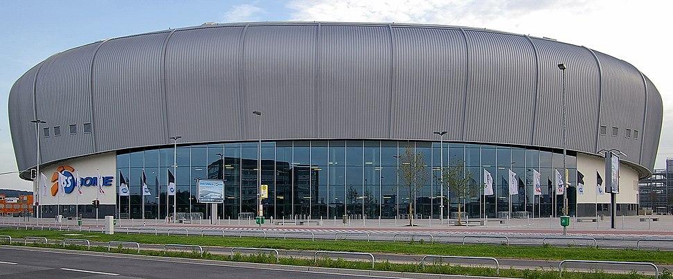 ISS Dome Düsseldorf Straßensicht