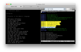 ITerm2 - Image: I Term 2 v 3 Screen Shot With Tabs Panes UTF 8 and Search