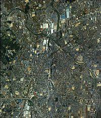 Ibaraki city Osaka Prefecture center area Aerial photograph.1985.jpg