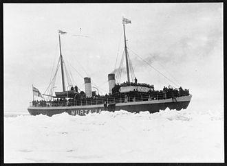 Murtaja (1890 icebreaker) - Murtaja on sea trials in late March 1890.