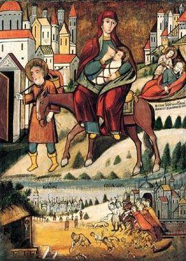 Icon 01012 Begstvo v Egipet. Nachalo XVII v