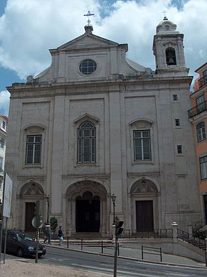 Igreja da Madalena - View of the main façade of the church.