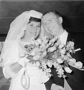 Knud Aage Nielsen - Imre Rietveld and Knud Aage Nielsen getting married on 17 April 1967