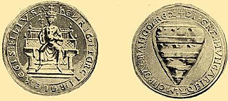"Emeric, King of Hungary - The earliest depiction of the ""Árpád stripes"" on Emeric's seal"