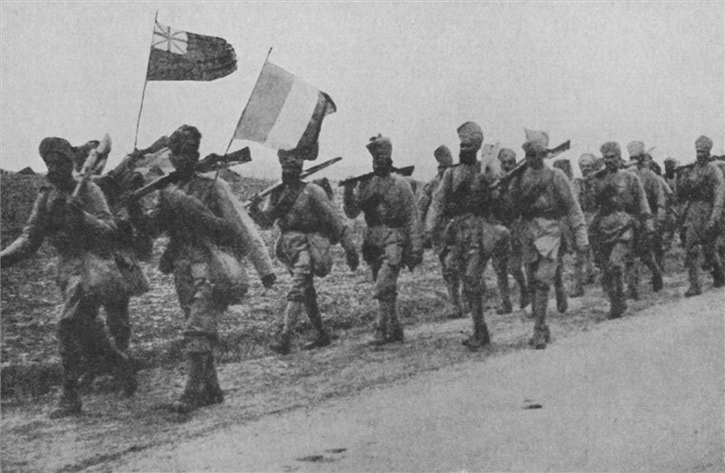 Indian reinforcements who fought at Givenchy in December 1914