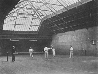 British Covered Court Championships - Image: Indoor tennis, hyde park, before 1903