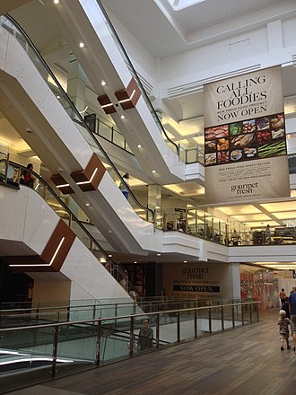 Indooroopilly Shopping Centre - Escalators at the northern end