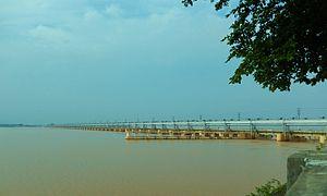 Indrapuri Barrage - Image: Indrapuri Dam,Dehri on sone