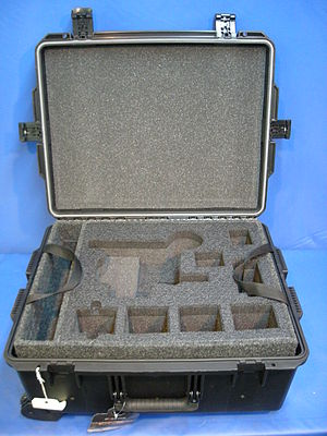 Transit case - Plastic molded transit case with pre-cut foam interior