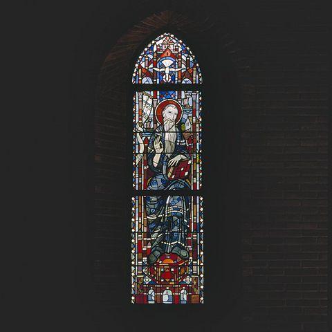 File interieur aanzicht gebrandschilderd glas in loodraam for Binnen interieur