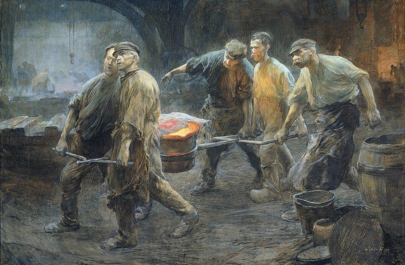 Interieur van een ijzergieterij