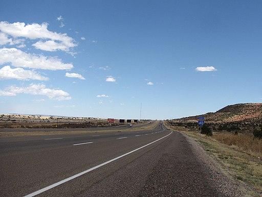 Interstate 40 in eastern New Mexico