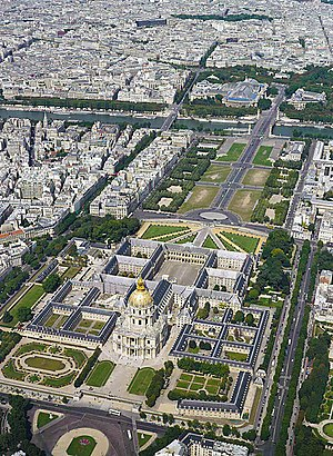 Les Invalides - Image: Invalides aerial view