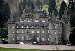 Clan Campbell - Inveraray Castle, seat of the Duke of Argyll, Chief of Clan Campbell.