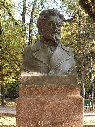 Ion Creangă - Lev Averbruh's bust of Ion Creangă (Alley of Classics, Chișinău)