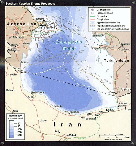 Southern Caspian Energy Prospects (portion of Iran). Country Profile 2004. - Caspian Sea
