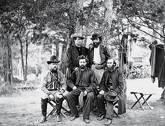Irish Brigade (Union Army) - Chaplains of the Irish Brigade, Fr. Corby front row, right