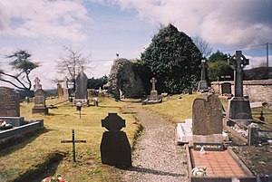 Eógan mac Néill - The old graveyard and the ruined church in Iskaheen - the resting place of Eógan mac Néill