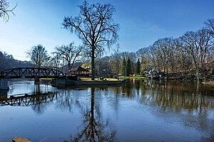 Grand River (Michigan) - Island Park on the Grand River at Grand Ledge