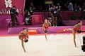 Israel Rhythmic gymnastics at the 2012 Summer Olympics (7915377226).jpg