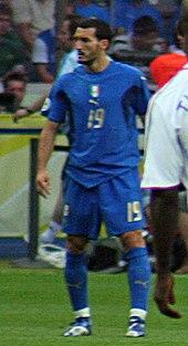 Zambrotta durante la finale del campionato mondiale di calcio 2006