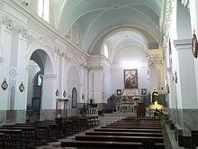 Interno dell'attuale chiesa di Santa Maria Maggiore, ex SS. Annunziata.