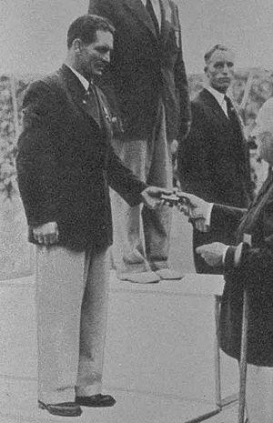 Ivar Sjölin - Sjölin (left) at the 1948 Olympics
