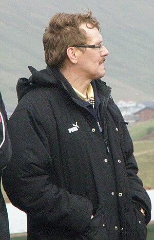 Jógvan Martin Olsen - Jógvan Martin Olsen coaching Víkingur Gøta in 2010.