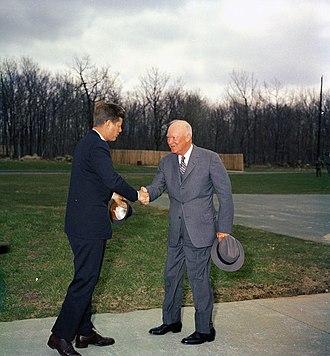 John Cavanagh (hatter) - John F. Kennedy meeting with Eisenhower, April 22, 1961