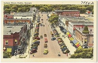 Dublin, Georgia - Jackson street in Dublin, c. 1945