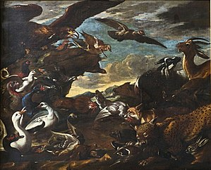 Jacob van der Kerckhoven - The battle of the birds and beasts