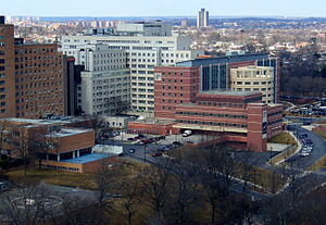Jacobi Medical Center - Aerial view of the hospital