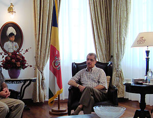 Seychelles - Former President James Michel in his office in Victoria, 2009
