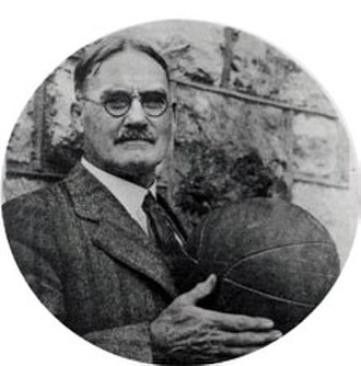 James Naismith - James Naismith holding a basketball