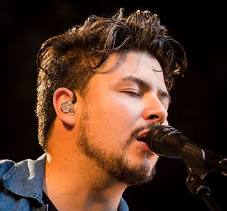 Jamie Woon - Woon at stage during the Piknik in Parken festival in Oslo in 2016
