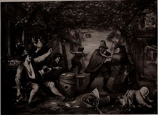 Peasants Quarrelling over Cards in an Arbour