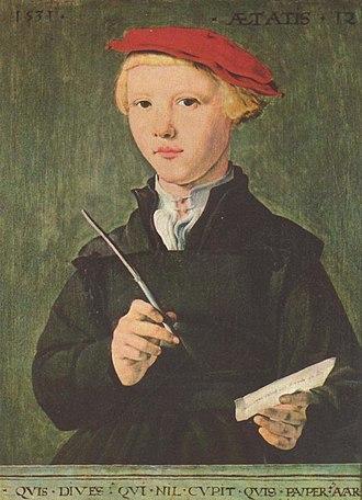Stedelijk Gymnasium Haarlem - Young Haarlem scholar, c.1531