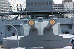 Japanese Battleship Mikasa at Yokosuka - 2013 06 - main battery (fore).JPG