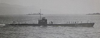 Japanese submarine Ro-33 - Image: Japanese submarine Ro 33 in 1939