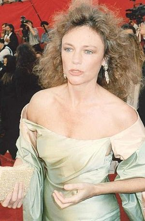 Jaqueline Bisset on the red carpet at the 1989...