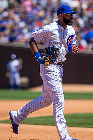 Jason Heyward - Heyward playing for the Chicago Cubs in 2016