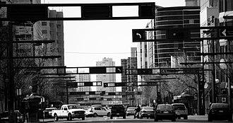 Jasper Avenue - Looking east along Jasper Avenue.