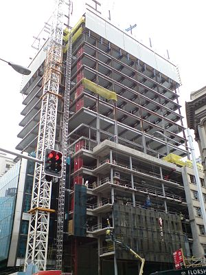 Deloitte Centre - The building under construction in late 2008