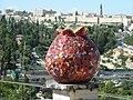 Jerusalem Hebron road 12 Ruslan Sergeev pomegranate and Old City Walls.jpg