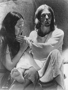Ted Neeley in Jesus Christ Superstar.
