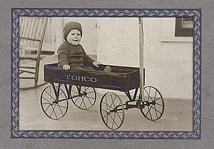 James C. Gardner - Jim Gardner in his wagon in 1925 at the age of one