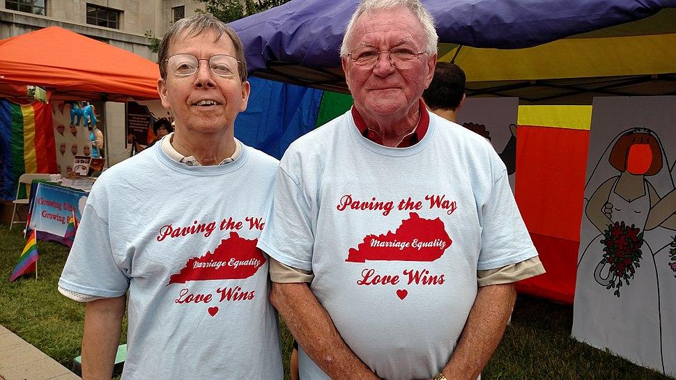 Jimmy Meade and Luke Barlowe at Lexington Pride Festival 2015