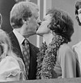 Jimmy and Rosalynn Carter kissing at the Democratic National Convention, New York City.jpg